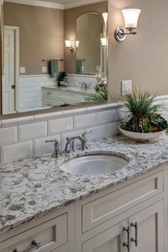 Pental Quartz Serra counter...a contender.  Classic white Sammamish Bathroom - Traditional - Bathroom - Seattle - Nip Tuck Remodeling