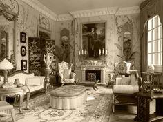 Enthralling Elegant Living Room Interior Design With Fantastic Victorian Style Decor Victorian Style Decor, Victorian House Interiors, Victorian Design, Vintage Interiors, Victorian Homes, Victorian Era, Victorian London, Interiores Art Deco, Interiores Design