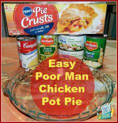 Easy Poor Man Chicken Pot Pie Ingredients