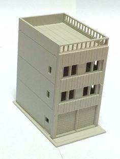 Outland Models Railway Modern 3-Story House w Garage Unpainted N Scale 1:160 #OutlandModels