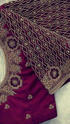 New Saree Blouse Designs, Blouse Designs Catalogue, Best Blouse Designs, Simple Blouse Designs, Stylish Blouse Design, Hand Embroidery Design Patterns, Designer Blouse Patterns, Beautiful Dress Designs, Fancy Dress Design