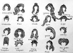 disney, drawing, hair - inspiring picture on Favim.com on we heart it / visual bookmark #31494675