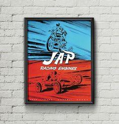 Affiche JAP Racing Engines 1958 - Garage Atelier Vintage - Limited Edition
