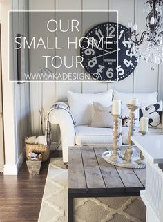 Find yourself living in a small house? Us too! Here's our small house tour!