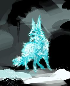 Just an awesome illustration of the crystal fox from Star Wars The Last Jedi