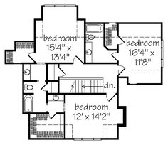 Shook hill second floor plan