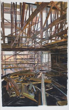 Patricia Cain's drawings and writing have greatly influenced my work. Here's her pastel called Knowing Through Making: Construction Drawings