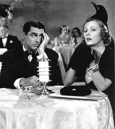 Irene Dunne § Cary Grant. This pic is just as crazy as the movie...The Awful Truth. Love it:)