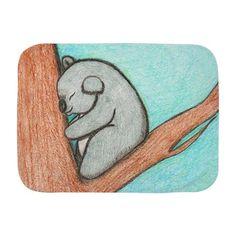 Sleepy Koala Baby Blanket on CafePress.com