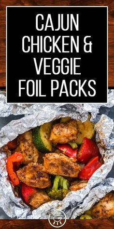 Cajun Chicken & Veggie Foil Packs Keto Recipe – New Avsa Restaurant Keto Veggie Recipes, Vegetable Recipes, Healthy Recipes, Cajun Chicken Recipes, Vegetable Drinks, Chicken And Vegetables, Veggies, 30 Min Meals, Comida Keto