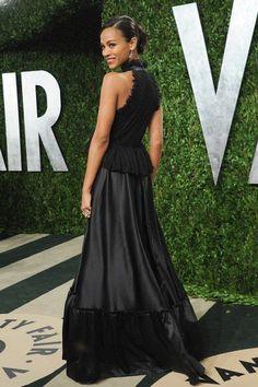 Zoe Saldana at the Vanity Fair Oscar Party '13 // #Givenchy #rogerviviervanityfair