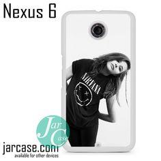 chloe grace moretz wearing nirvana shirt Phone case for Nexus 4/5/6