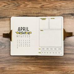 """263 Likes, 16 Comments - Jourdon Geddes (@jourdon.journals) on Instagram: """"April monthly! Better late than never • • • • • #bulletjournal #bulletjournaling…"""""""