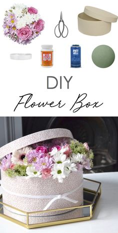 DIY Gift   Fresh Flower Gift Box   The Things She Makes