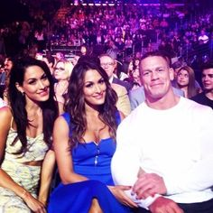 The Bella Twins and John Cena at Nickelodeon Kids Choice Awards -