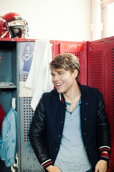 It's a locker-room lock-up: Andreas Wijk rocks our new varsity jacket