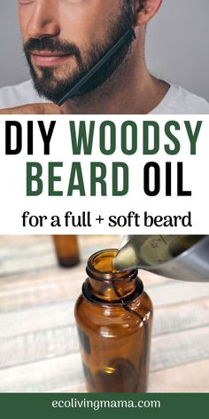Healthy Man This DIY woodsy beard oil recipe is made with essential oils (cedarwood and bergamot, oh my!) and is super simple to make. Jojoba oil and almond oil promote healthy beard growth and a soft beard worth snuggling. Homemade Essential Oils, Essential Oil Blends, Doterra, Diy Beard Oil, Homemade Beard Oil, Beard Growth Oil, Facial, Baking Soda Shampoo, Beard Balm