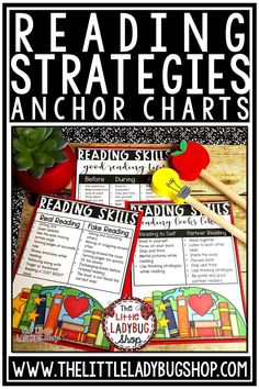 You will love these beautiful Reading Comprehension & Strategy Posters! These Reading Comprehension Anchor Charts are perfect to display in your classroom to aid in teaching each of these Reading Skills. You will love displaying them in your classroom! Perfect for 2nd grade, 3rd grade, 4th grade, 5th grade classroom. #readingcomprehensionposters #readingstrategies