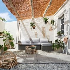 Turn Your Backyard into Summer Patio – Design Kaktus Even though age-old with thought, Backyard Pergola, Pergola Shade, Backyard Landscaping, Gazebo, Pergola Ideas, Corner Pergola, Outdoor Pergola, Patio Ideas, Building A Porch