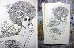 Fernanda Guedes - Sketchbook: Hoje, no meu sketchbook.
