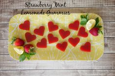 These Strawberry Mint Lemonade Gummies are a delicious way to eat more gelatin. Super easy to make and tasty, you'll love these Strawberry Mint Lemonade Gummies.