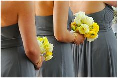 www.weddingrowcalifornia.com | grey bridesmaid dresses