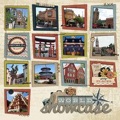 World Showcase Epcot scrapbook layout by zippyoh