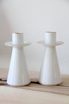 Vintage 1960 Midcentury / Set of Two / Modern by WildPoppyGoods