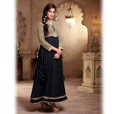 Black and Beige Designer Salwar Suit-