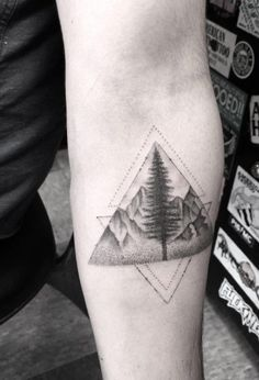 Landscape Glyph Tattoo by Doctor Woo