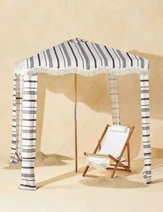 weekend sales Hanging Furniture, Pool Furniture, Outdoor Furniture, Beach Cabana, Wooden Poles, Beach Umbrella, House Styles, Business, Anthropologie