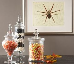"love this idea!!  Party lite has great candle holders that you can fill with ""stuff"" ....candy would be fun!!"