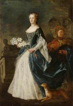 Queen Maria Leszczynska of France to Louis XV, Alexis Simon Belle, 1730