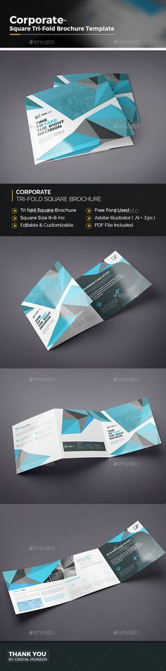 Corporate TriFold Brochures Template Brochures Brochure - Illustrator brochure template