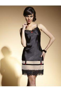 Vente lingerie haut de gamme, sublime nuisette pas cher en satin #lingerieSexy