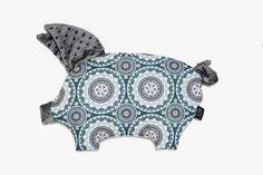 Sleepy Pig - Mosaic- Grey