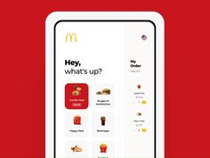 UX Design also applies to kiosks! This is a redesign for a McDonald's kiosk. I think the areas that are the most accessible will be different than a mobile screen. Design Web, Design Social, Design Food, Kiosk Design, App Ui Design, Mobile App Design, Mobile Ui, Flat Design, Interface Web