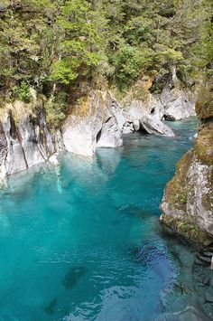 The Blue Pools of Makarora River, South Island, New Zealand (by Jerome Pardigon).