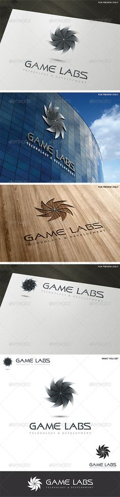 3D Game Labs Logo Template v3 — Vector EPS #entertainment #hitech • Available here → https://graphicriver.net/item/3d-game-labs-logo-template-v3/4601103?ref=pxcr