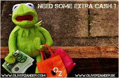 Need some extra cash ?  #cash  #money  #frog  #wall  #kermit  #euro  #usdollar  #bank  #mlm  #revshare