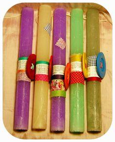 Candle 26 - Elsueno, χάντρες, δώρα, χειροποίητο κόσμημα και ρούχα. Easter Ideas, Candles, Decor, Easter Activities, Decoration, Candy, Candle Sticks, Decorating, Deco