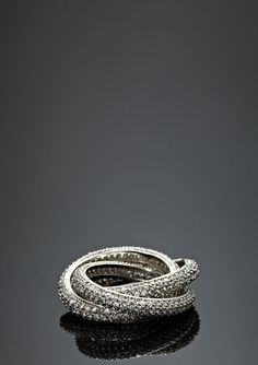 Pave intertwined ring