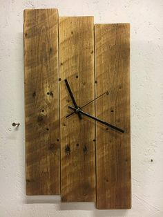 This beautiful clock is lovingly handcrafted using reclaimed wood. Nails replace the numerals and this has a Quartz movement mechanism. Because of the nature of reclaimed wood, each piece will have different marks, grooves and knots and so each clock will be unique. Therefore, it