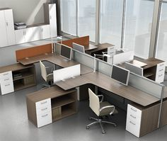 storage supported surfaces make the best use of space in a limited footprint. Office Furniture Design, Office Interior Design, Office Interiors, Modular Furniture, Furniture Movers, Modular Workstations, Office Workstations, Coworking Space, Office Table