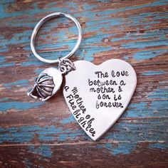 mother of a firefighter stamped keychain by TTCCbyAmanda on Etsy