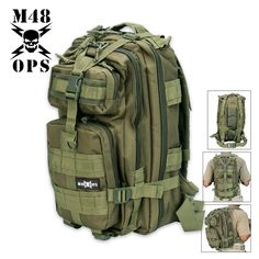 M48 Gear Tactical Assault Backpack OD | BUDK.com - Knives & Swords At The Lowest Prices!