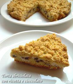 Torta sbriciolata con ricotta e cioccolato ricetta dolce