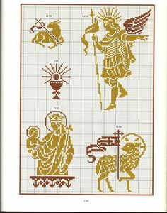 hellenistic ornament by anna tolias Cross Stitching, Cross Stitch Embroidery, Catholic Crafts, Christian Symbols, Easter Cross, Lesage, Cool Diy Projects, Filet Crochet, Needlepoint