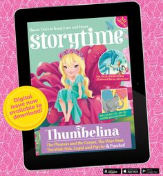 To brighten the grey days of January – our colourful Thumbelina issue, Storytime Issue 17 - out now in print and digital! Get it from the iTunes store: https://itunes.apple.com/gb/app/storytime-brilliant-stories/id1033852253?mt=8