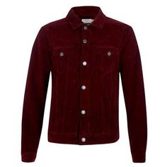 Red Cord Western Jacket (€13) ❤ liked on Polyvore featuring outerwear, jackets, red jacket, cord jacket, cowboys jacket and western jacket